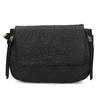 Czarna torebka typu crossbody ze złotymi zamkami błyskawicznymi gabor-bags, czarny, 961-6001 - 26