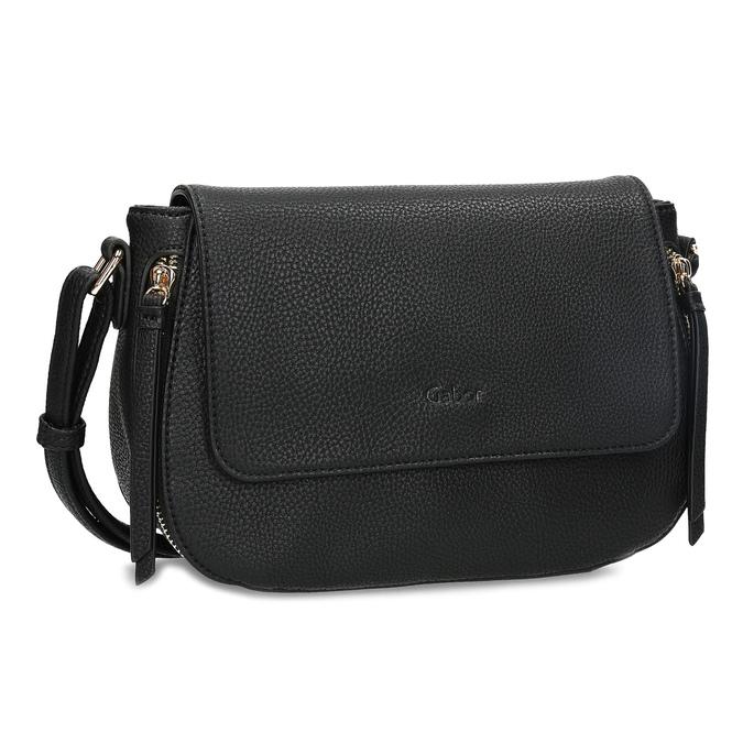 Czarna torebka typu crossbody ze złotymi zamkami błyskawicznymi gabor-bags, czarny, 961-6001 - 13
