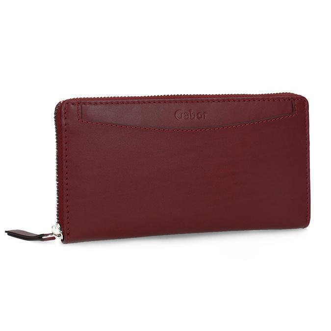Czerwony skórzany portfel damski gabor-bags, czerwony, 946-5003 - 13