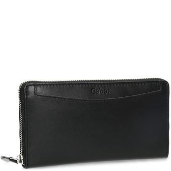 Czarny skórzany portfel damski gabor-bags, czarny, 946-6003 - 13