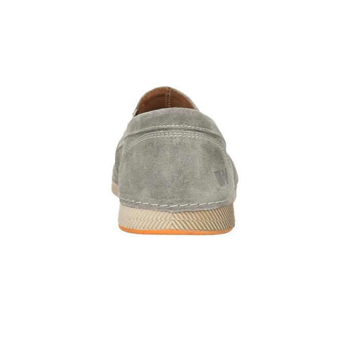 Zamszowe slip-on weinbrenner, szary, 833-8603 - 16