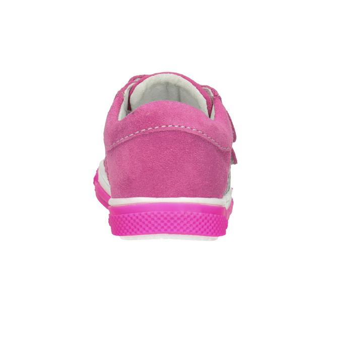 Różowe skórzane trampki dziewczęce bubblegummer, 123-5607 - 16