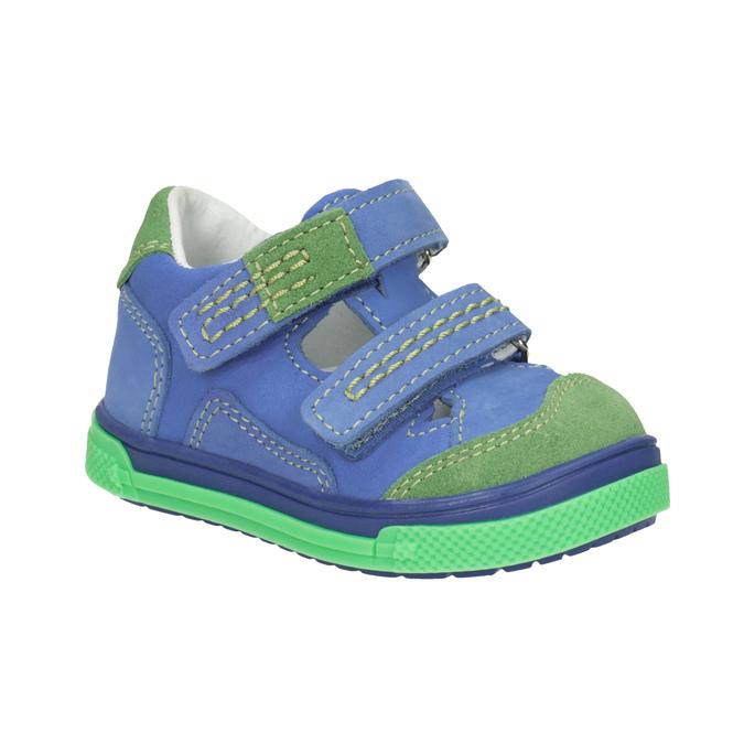 Skórzane obuwie dziecięce na rzepy bubblegummer, 116-9601 - 13