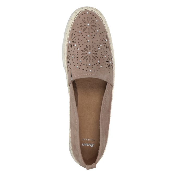 Brązowe espadryle damskie bata, 519-5606 - 15