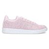Różowe skórzane trampki damskie adidas, różowy, 503-5478 - 19