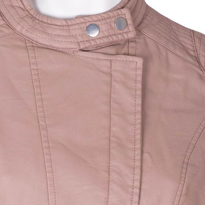 Różowa kurtka damska ze skóry ekologicznej bata, różowy, 971-8211 - 16