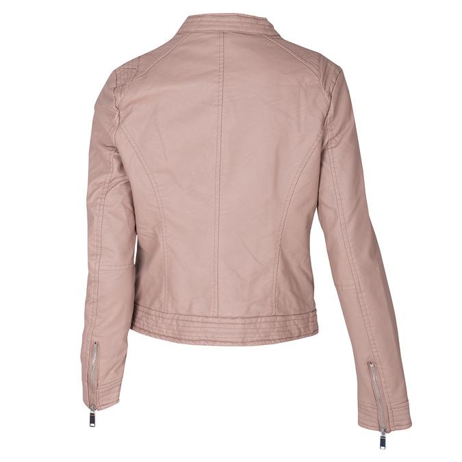 Różowa kurtka damska ze skóry ekologicznej bata, różowy, 971-8211 - 26