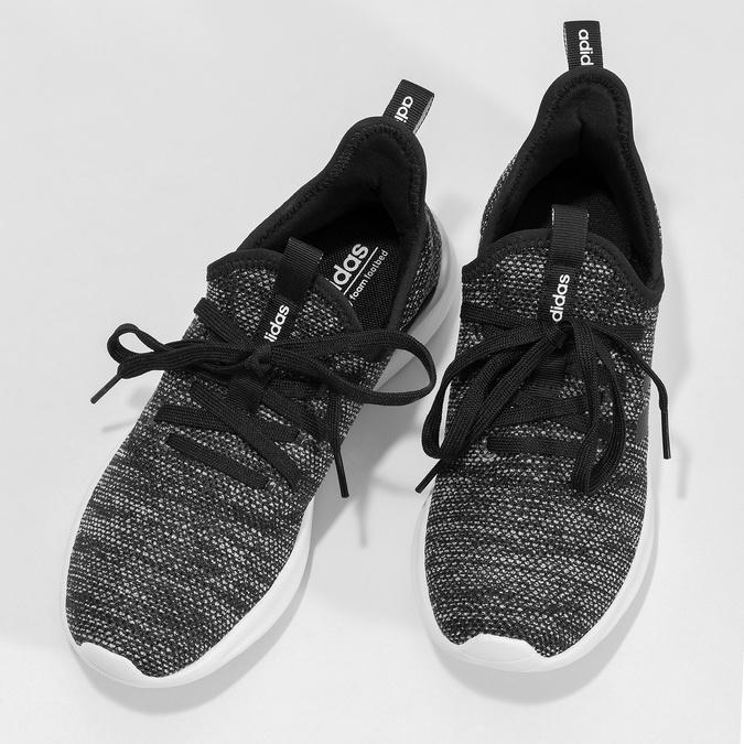 Trampki zcholewką zefektem melanżu adidas, czarny, 509-6569 - 16