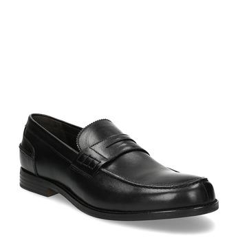 Czarne skórzane mokasyny męskie bata, czarny, 814-6128 - 13