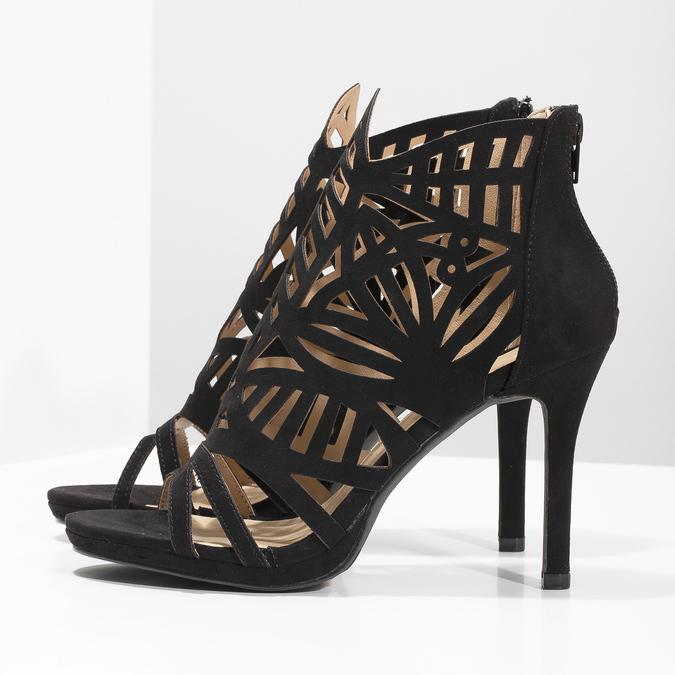 Sandały na szpilkach bata, czarny, 729-6615 - 16