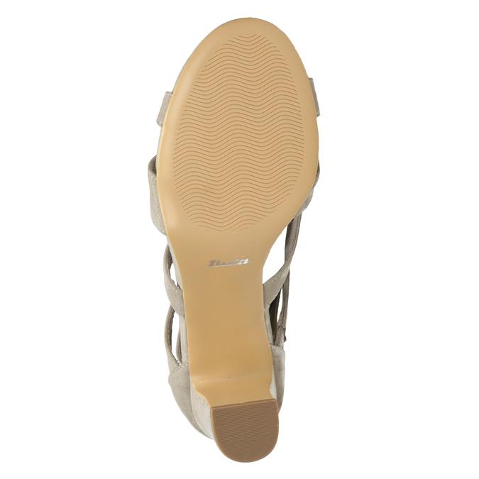 Sandały na stabilnych obcasach insolia, beżowy, 769-8617 - 19