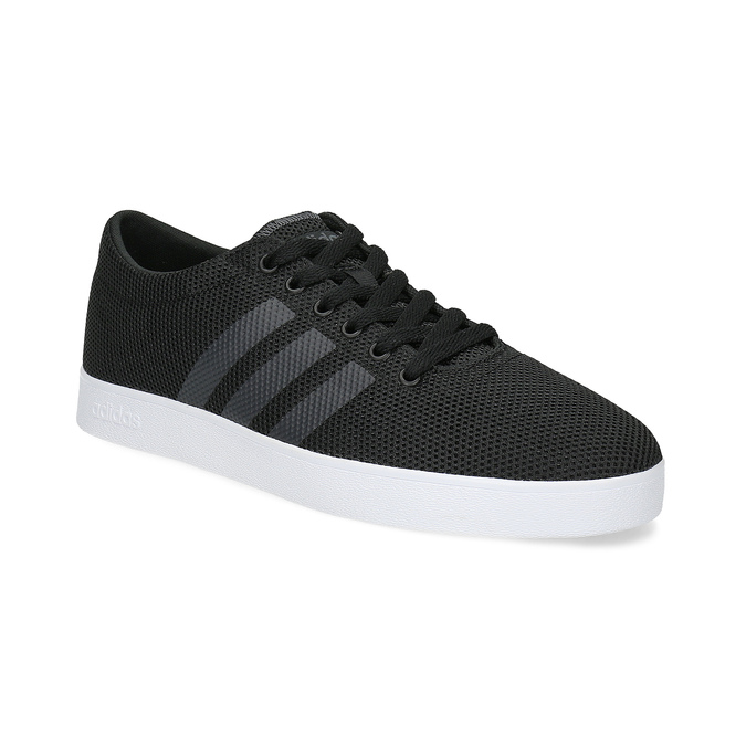 Czarne trampki męskie zfakturą siatki adidas, czarny, 809-6422 - 13