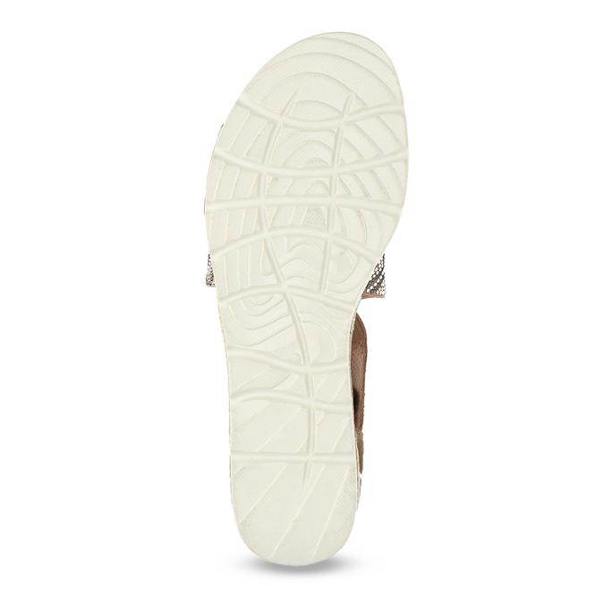 Brązowe sandały zwzorem bata, czarny, 569-6616 - 18