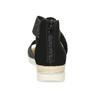 Czarno-srebrne sandały damskie bata, czarny, 569-6608 - 15