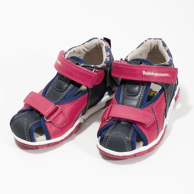 Sandały dziewczęce na rzepy bubblegummer, różowy, 161-5604 - 16
