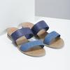 Granatowe klapki damskie na niskich koturnach bata-red-label, niebieski, 561-9609 - 26