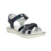 Granatowe sandały dziewczęce zkryształkami mini-b, niebieski, 361-9612 - 13