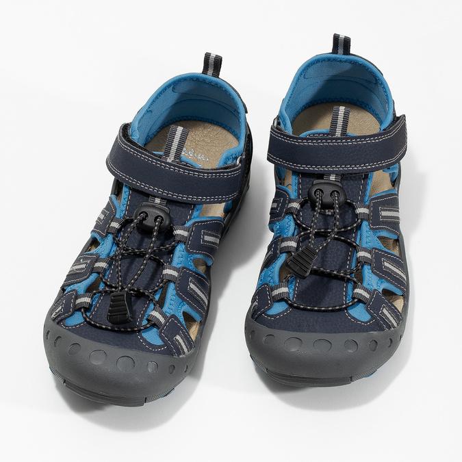 Granatowe sandały dziecięce mini-b, niebieski, 461-9606 - 16