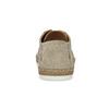 Skórzane beżowe trampki męskie zperforacją bata, beżowy, 823-8617 - 15