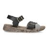 Szaro-czarne skórzane sandały damskie weinbrenner, czarny, 566-6641 - 19
