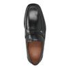 Czarne skórzane mokasyny męskie bata, czarny, 814-6625 - 15