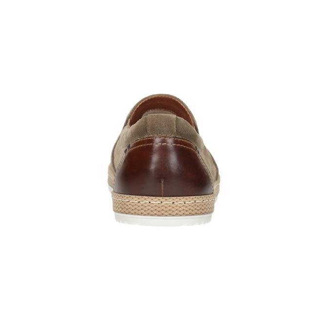 Zamszowe slip-on męskie bata, beżowy, 833-8602 - 16