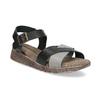 Szaro-czarne skórzane sandały damskie weinbrenner, czarny, 566-6641 - 13