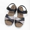 Szaro-czarne skórzane sandały damskie weinbrenner, czarny, 566-6641 - 16