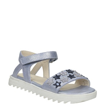 Sandały dziewczęce zgwiazdkami mini-b, niebieski, 261-9211 - 13