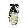 Czarne wyplatane sandały na platformie bata, czarny, 759-6633 - 15