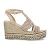 Wyplatane sandały na platformie bata, różowy, 759-8633 - 19