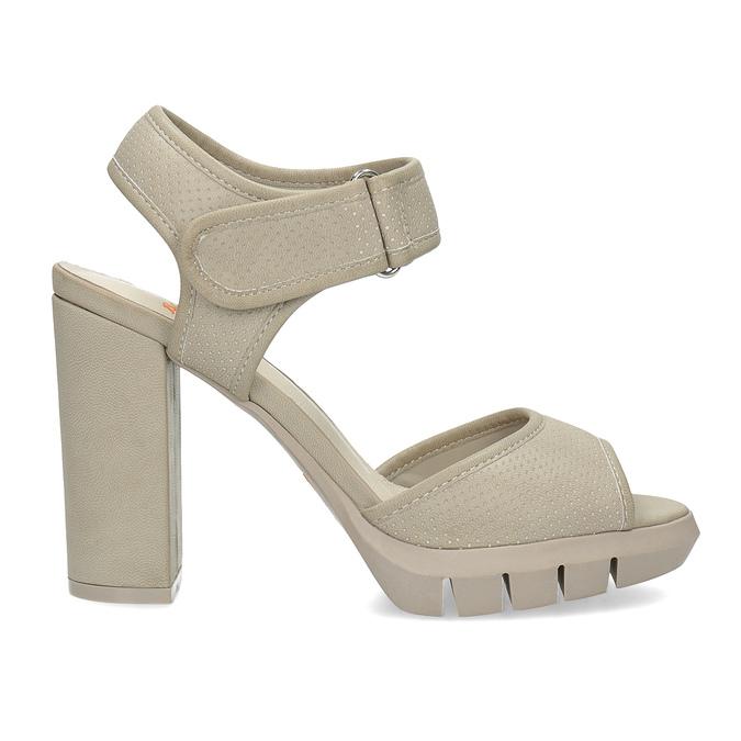 Sandały na grubych słupkach flexible, beżowy, 761-2616 - 19