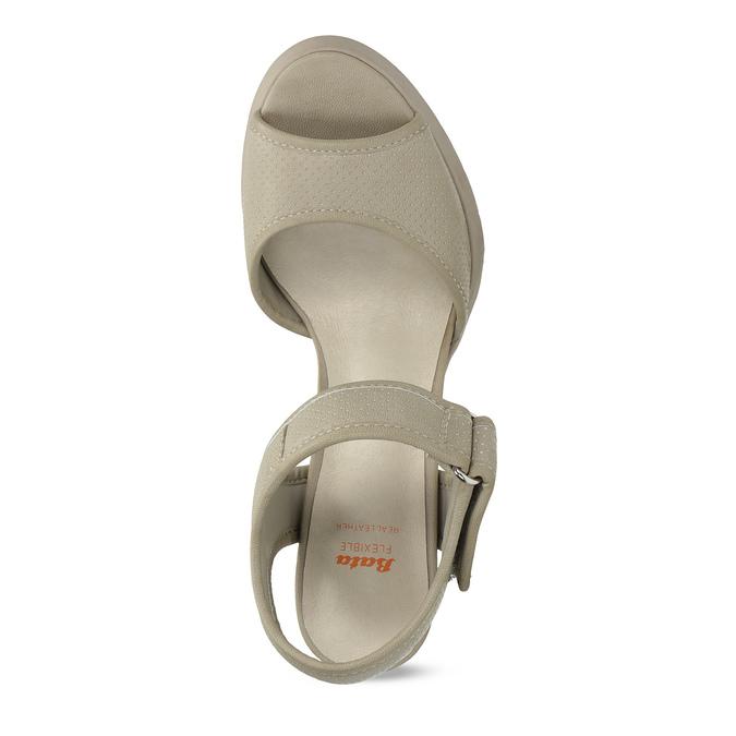 Sandały na grubych słupkach flexible, beżowy, 761-2616 - 17