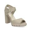 Sandały na grubych słupkach flexible, beżowy, 761-2616 - 13