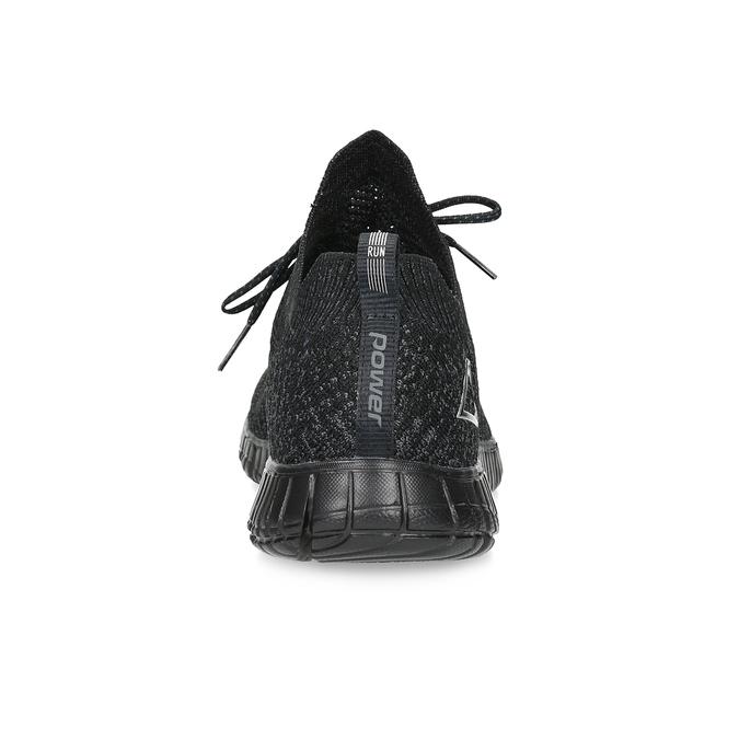 Czarne sportowe trampki męskie power, czarny, 809-6211 - 15