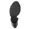 Skórzane sandały na obcasach, oszerokościH bata, czarny, 664-6610 - 18
