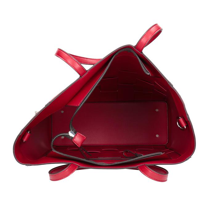 Przestronna czerwona torba zprzeplatanymi pasami bata, czerwony, 961-5236 - 15
