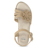 Beżowe sandały zkwiatkiem, beżowy, 661-8613 - 17