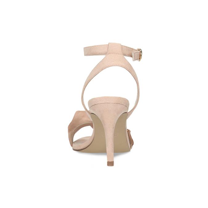 Różowe sandały zfalbanką, na szpilkach insolia, różowy, 769-5619 - 15