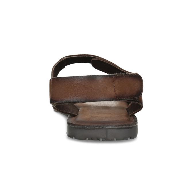 Brązowe skórzane sandały męskie bata, brązowy, 866-4633 - 15