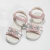 Różowo-białe sandały dziewczęce zkwiatkami mini-b, różowy, 261-5615 - 16