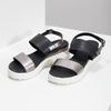 Czarno-srebrne sandały damskie na platformie bata, czarny, 661-6614 - 16