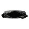 Czarna torebka typu crossbody zperforacją bata, czarny, 961-6331 - 15