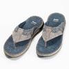 Skórzane japonki męskie zprzeszyciami bata, szary, 866-9845 - 16