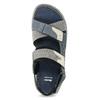 Granatowe skórzane sandały męskie na rzepy bata, szary, 866-9640 - 17