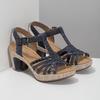 Skórzane sandały na stabilnych obcasach gabor, 766-9378 - 26