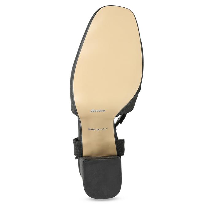 Czarne sandały damskie zbrokatem, na obcasach insolia, czarny, 726-6653 - 18
