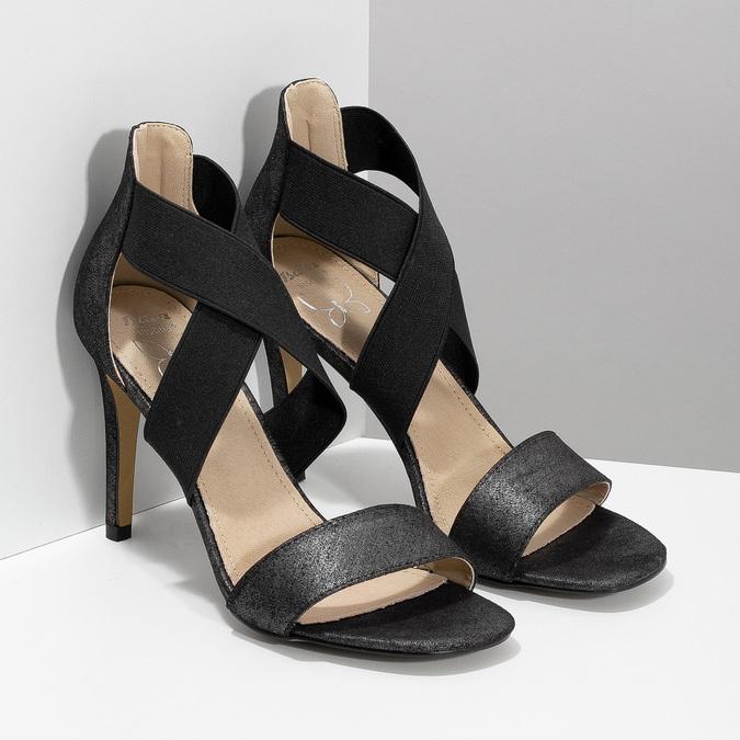 Czarne sandały na szpilkach insolia, czarny, 769-6625 - 26
