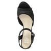 Czarne perforowane sandały damskie na obcasach insolia, czarny, 761-6618 - 17