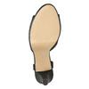 Czarne perforowane sandały damskie na obcasach insolia, czarny, 761-6618 - 19
